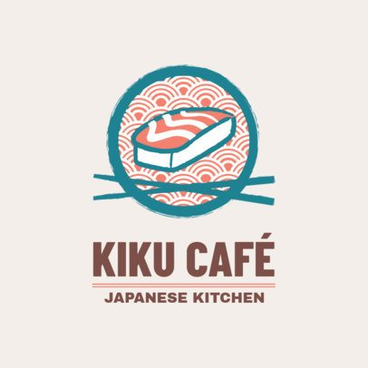 Japanese Restaurant Logo Template with Chopstick Graphics 1818a