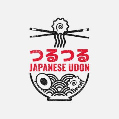 Japanese Restaurant Logo Maker Featuring an Udon Bowl Clipart 1821b