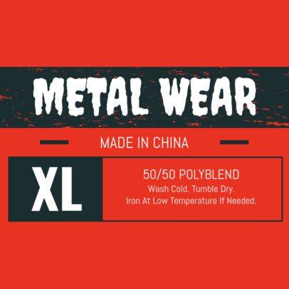 Streetwear T-Shirt Label Design Template 1147b