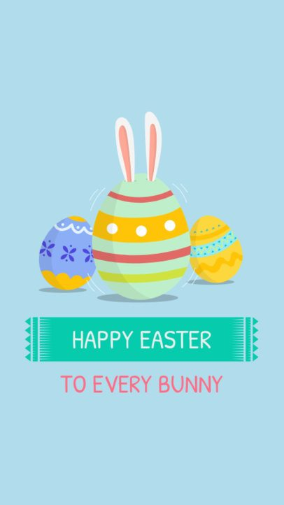 Instagram Story Template for Easter Greetings 585f