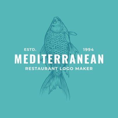 Mediterranean Seafood Restaurant Logo Maker with a Fish Clipart 1931