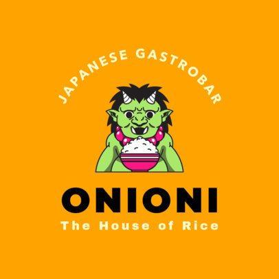 Japanese Food Logo Maker for Gastro-bars 1826d