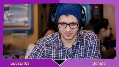 OBS Overlay Maker for a Gameplay Streamer 1198b