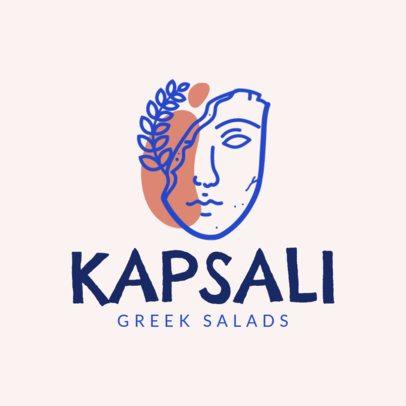 Mediterranean Food Logo Maker for a Greek Salad Restaurant 1913c