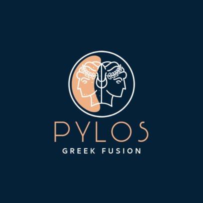 Greek Fusion Food Logo Maker 1913d