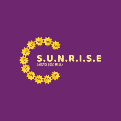 Day Care Logo Template with Sun Clipart 1926b