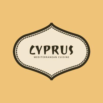 Extravagant Logo Maker for a Mediterranean Cuisine 1930d