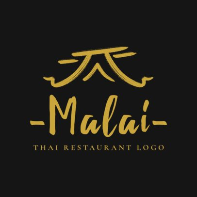 Minimalistic Thai Food Logo Maker with Elegant Illustrations 1840c
