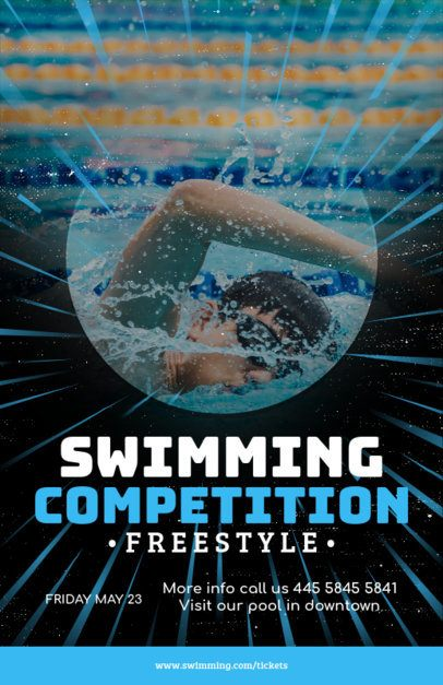 Online Flyer Maker for Swimming Competitions 108e