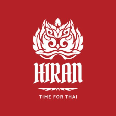 Thai Restaurant Logo Maker with Bold Typeface 1845b
