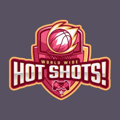 eSports Logo Template for Basketball Video Games 1748e
