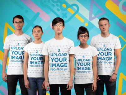 T-Shirt Mockup of Diverse eSports Team 25997