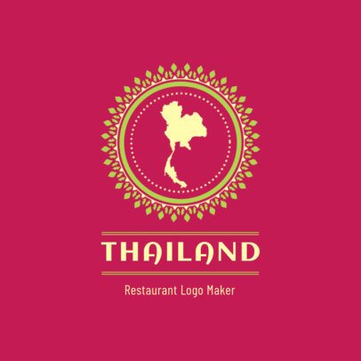 Restaurant Logo Maker Featuring a Map of Thailand 1837a