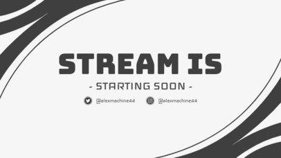 Twitch Overlay Design for a Stream Starting Soon Announcement 1220c