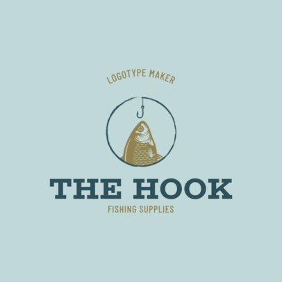Fishing Club Logo Design Maker Featuring Fish Graphics 1795d