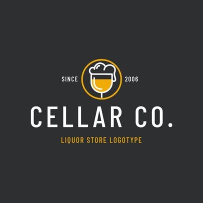 Logo Design Maker for a Modern Liquor Store 1813b