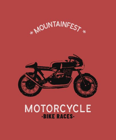 T-Shirt Design Template for a Biker Festival 330e