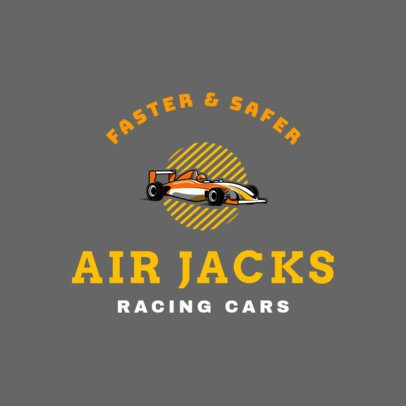 Car Racing Logo Maker 1647c