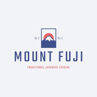 Japanese Restaurant Logo Maker with Mount Fuji Clip Art 1822b
