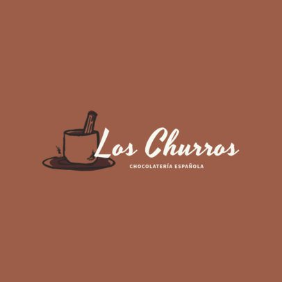 Spanish Restaurant Logo Maker with Churros Graphics 1917e
