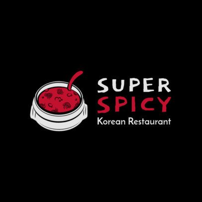 Spicy Korean Food Logo Maker 1919e