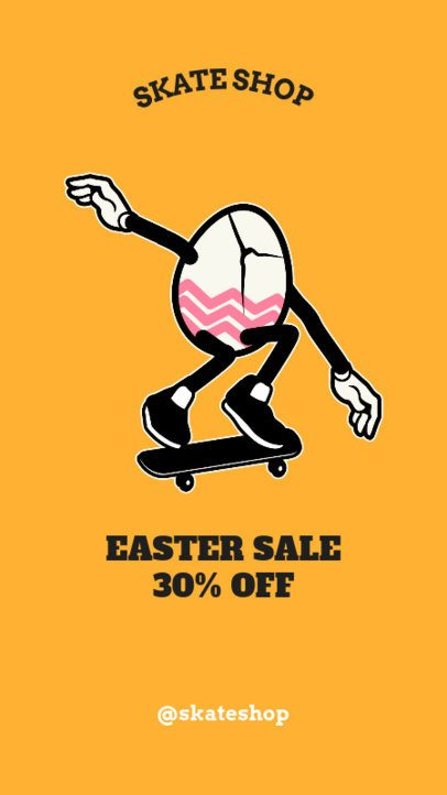 Instagram Story Template for an Easter Day Sale 1044g