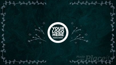 Intro Maker for a Logo Animation Video with Hand Drawn Floral Designs 1340