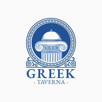 Greek Restaurant Logo Generator with a Classic Design 1914c
