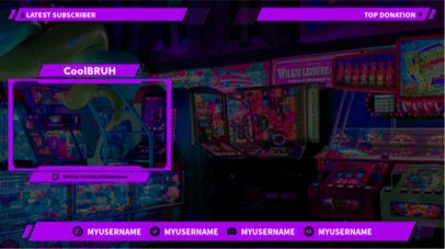 Twitch OBS Overlay Maker with Webcam Frame 1249