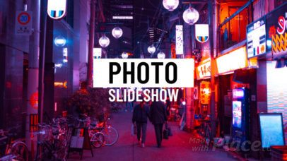 Photo Slideshow Video Maker with Neon Lights 1299