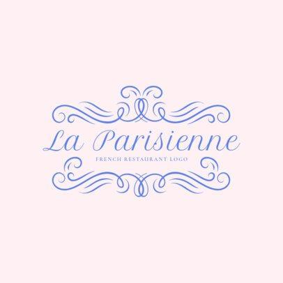 Sophisticated French Food Restaurant Logo Maker 1808
