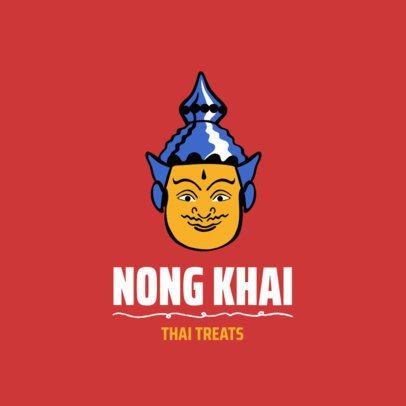 Modern Style Logo Generator for a Thai Restaurant 1842d