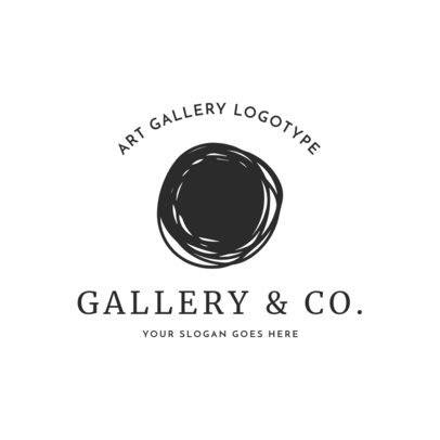 Art Gallery Logo Maker with Simple Design 1325g