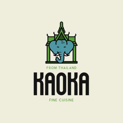 Online Logo Maker for Traditional Thai Food Restaurant 1844e