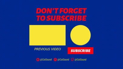 YouTube End Screen Template with a Subscription Reminder 1263a