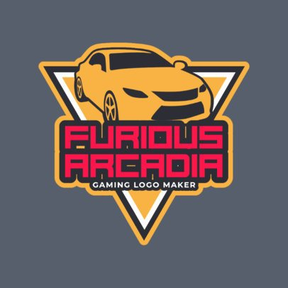 Racing Game Logo Generator with a Fast Car Clipart 1871c