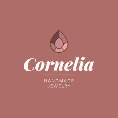 Handmade Jewelry Store Logo Maker 2191c