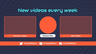 YouTube End Card Template Featuring More Videos Panels 1267b