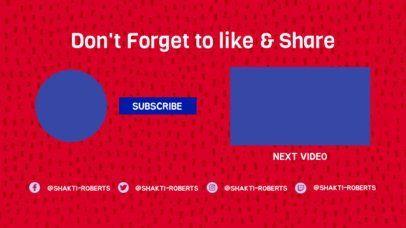 YouTube End Screen Template with a Patterned Surface 1261a