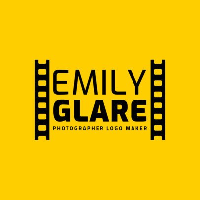 Logo Maker for a Professional Photographer with a Film Frame 2171a