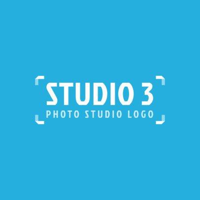 Trendy Logo Template for a Photography Studio 2171e