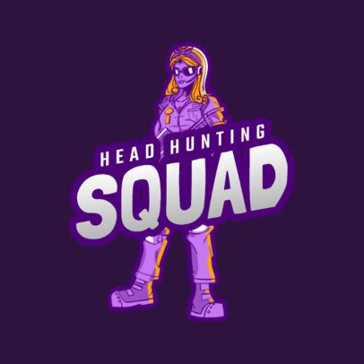 Gaming Logo Template for a Battle Royale Squad 1847d