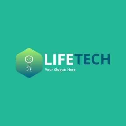 Minimalistic Eco-Tech Logo Generator 2177d