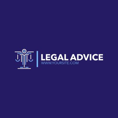 Justice Logo Maker for Legal Advice 1852c