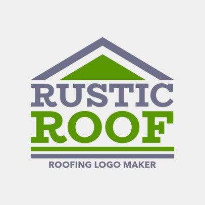 Rustic Roofing Logo Maker 1480c