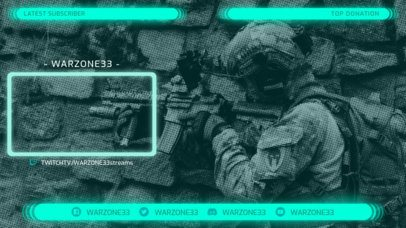 Twitch Overlay Template with a Live Window Panel 1242a
