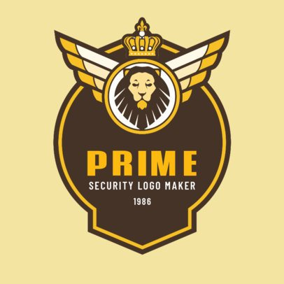 Security Corporation Logo Maker with a Royal Lion Clipart 1786a