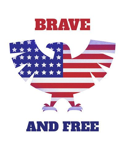Patriotic American Eagle T-Shirt Design Template 1405
