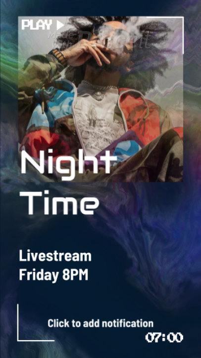 Instagram Story Video Maker to Announce a Night-Time Livestream 2194