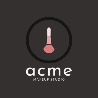 Online Logo Maker for a Classy Makeup Studio 2214